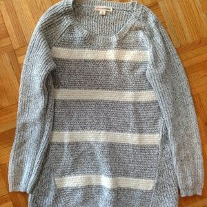 Light blue and white textured sweater